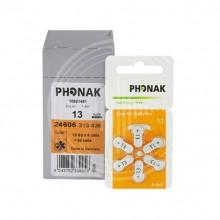 Батарейки Phonak 13 (PR48) для слуховых аппаратов, 10 блистеров (60 батареек)