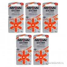 Батарейки Rayovac 13 (PR48) для слуховых аппаратов, 5 блистеров (30 батареек)