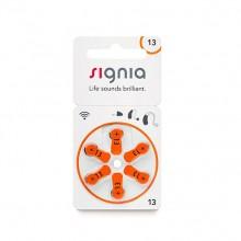 Батарейки для слухового аппарата Signia 13 (PR48), 1 блистер (6 батареек)