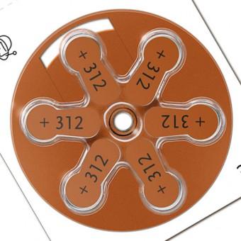 Батарейки для слуховых аппаратов Signia 312 (PR41), 3 блистера (18 батареек)