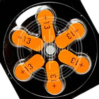 Widex 13 (PR48) батарейки для слухового аппарата, 3 блистера (18 батареек)