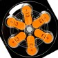 Батарейки Widex 13 (PR48) для слухового аппарата, 3 блистера (18 батареек)