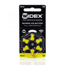 Батарейки Widex 10 (PR70) для слуховых аппаратов, 1 блистер (6 батареек)