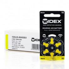 Батарейки Widex 10 (PR70) для слуховых аппаратов, упаковка (60 батареек)