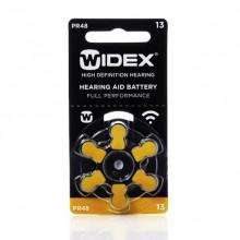 Батарейки Widex 13 (PR48) для слуховых аппаратов, 1 блистер, 6 батареек.