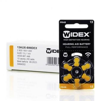 Widex 13 (PR48) батарейки для слуховых аппаратов, упаковка (60 батареек).